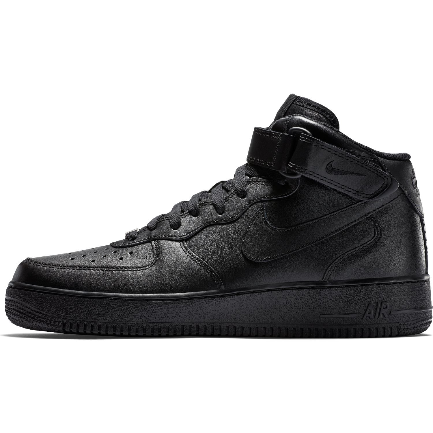 various colors f8b5f 5266d ... BUTY MĘSKIE NIKE AIR FORCE 1 MID 07 ALL BLACK 315123-001 ...