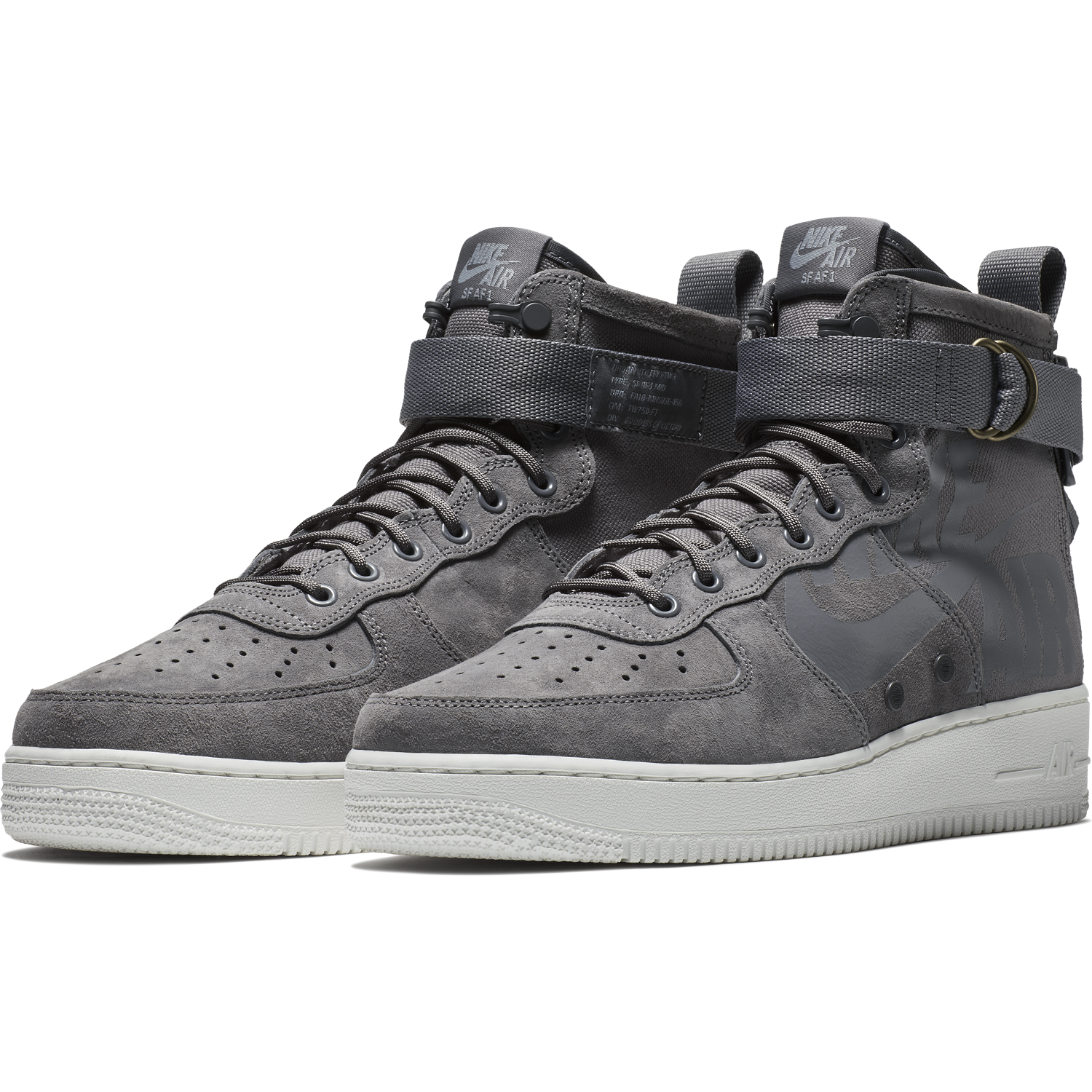 quality design f7657 d75d7 ... BUTY MĘSKIE LIFESTYLE NA ZIMĘ NIKE SF AIR FORCE 1 MID SZARE 917753-007  ...