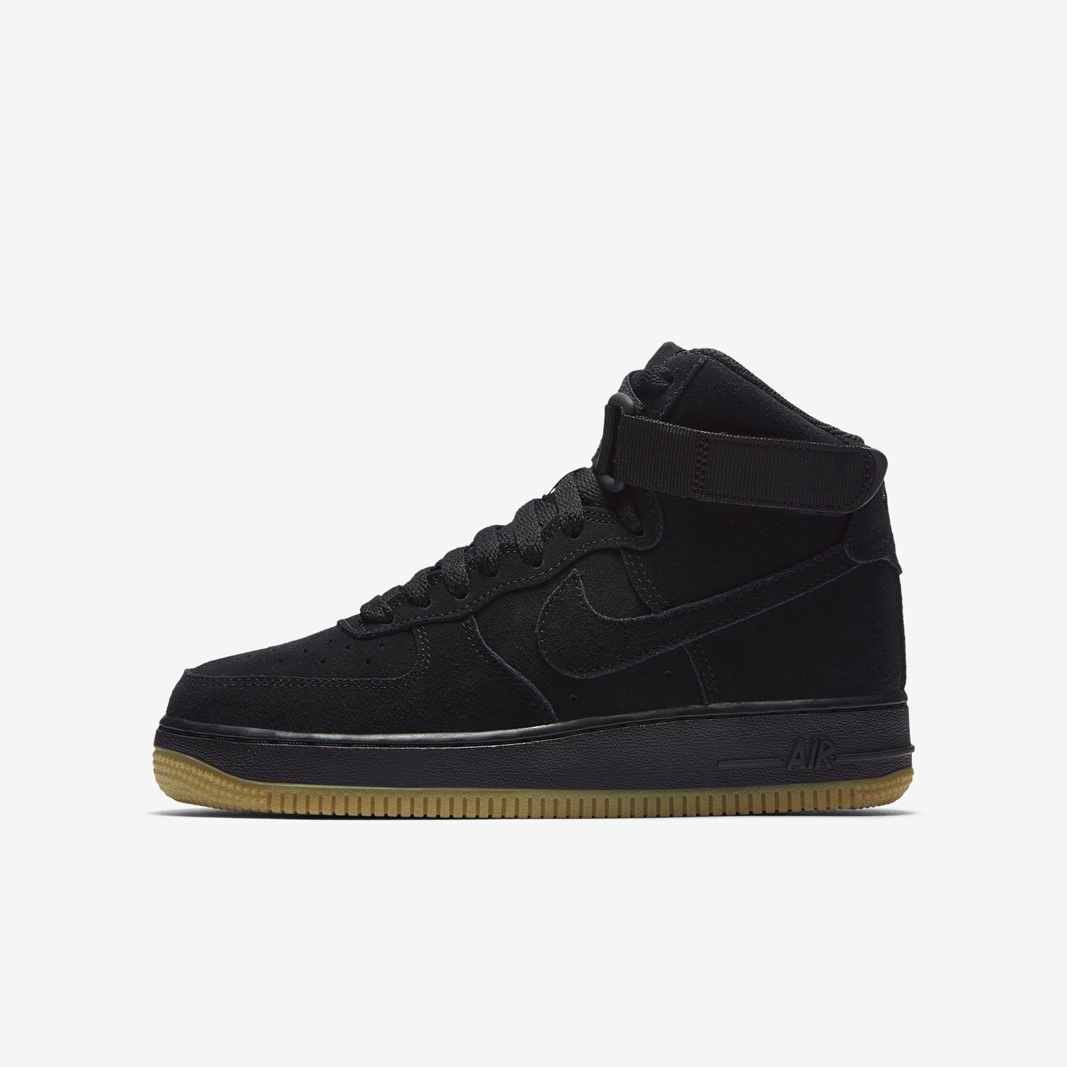 finest selection c7a5e 85bd4 ... Buty juniorskie Nike Air Force 1 High LV8 Black Gum 807617 002 ...