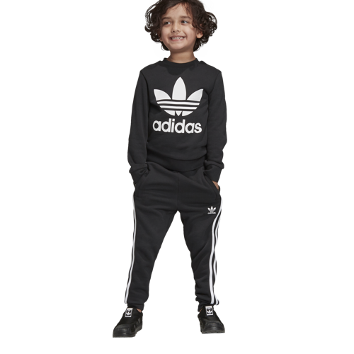 DRES JUNIOR ADIDAS CREW SET CZARNY ED7728